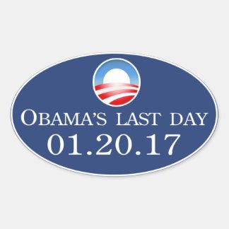 Etiqueta 2017 do dia de Obama última Adesivos Ovais