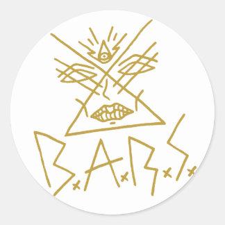 """etiqueta 3"""" da cara do ouro de 6x B.A.R.S."""
