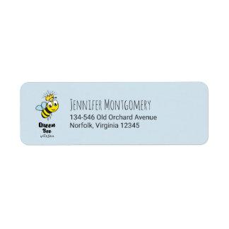 Etiqueta A abelha de rainha bonito Bumble a abelha com