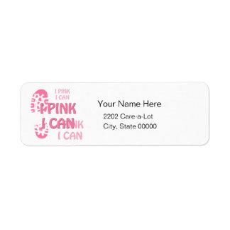 Etiqueta A caminhada que cor-de-rosa do cancro da mama eu m