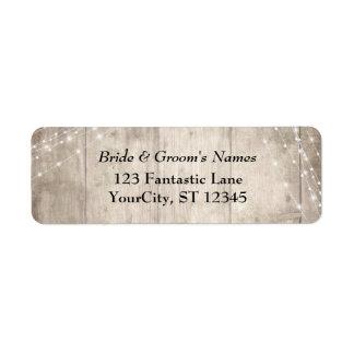 Etiqueta A luz branca de madeira pálida rústica de Brown