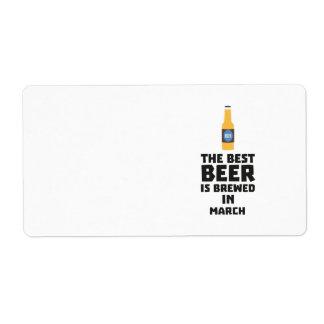 Etiqueta A melhor cerveja é em março Zp9fl fabricado