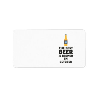 Etiqueta A melhor cerveja é em outubro Z5k5z fabricado