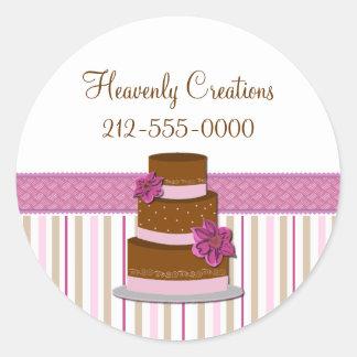 Etiqueta à moda do negócio da padaria do bolo de adesivo