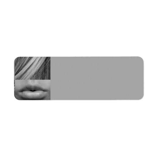 Etiqueta A MULHER da FORMA do BRANCO eye-537597 CINZENTO