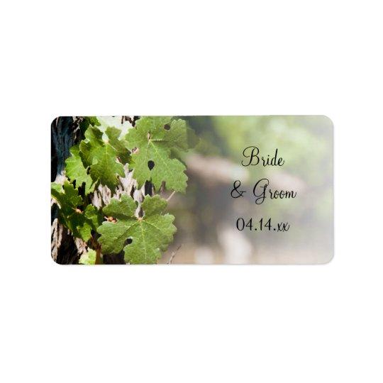 Etiqueta A uva sae de Tag do favor do casamento do vinhedo