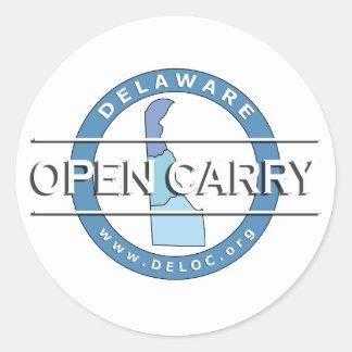 Etiqueta aberta do carregar de Delaware Adesivo