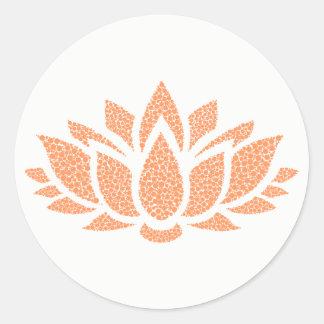 Etiqueta abstrata simples elegante da flor de
