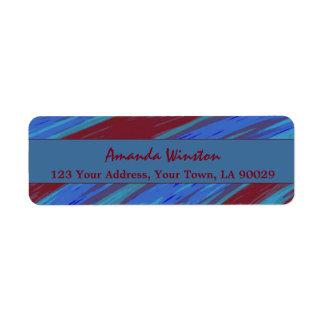 Etiqueta Abstrato da abanada da cor de azul vermelho
