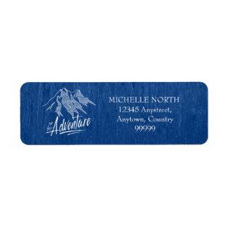 Etiqueta Acima para das montanhas ID358 branco da aventura