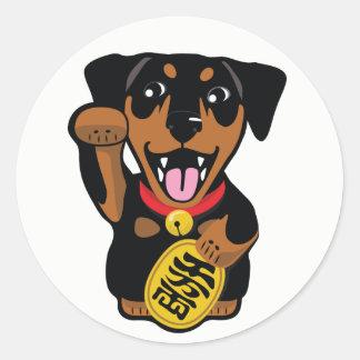 Etiqueta afortunada do cão do Pin do minuto do