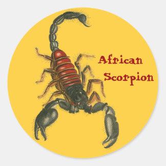 Etiqueta africana do escorpião adesivos em formato redondos