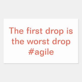 Etiqueta ágil -- A primeira gota é a gota a mais