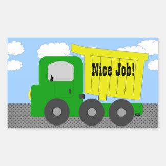 Etiqueta agradável do caminhão do trabalho adesivos em formato retangulares