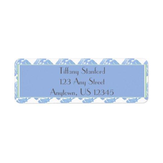Etiqueta Aguarela azul | floral personalizado
