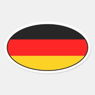 Etiqueta alemão do Oval da bandeira Adesivos Em Formato Oval