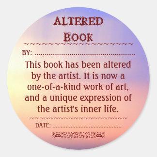 Etiqueta alterada do livro