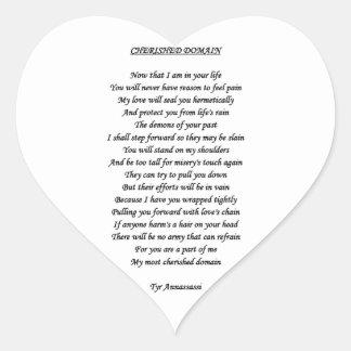 Etiqueta AMADA do coração do DOMÍNIO Adesivos De Corações