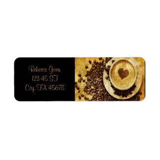 Etiqueta Amante chique do café dos feijões de café do