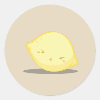 Etiqueta amarela bonito do limão