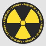 Etiqueta amarela do símbolo da radiação adesivo