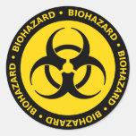 Etiqueta amarela do símbolo do Biohazard Adesivos