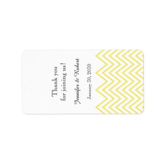 Etiqueta amarela moderna do bálsamo de bordo do etiqueta de endereço