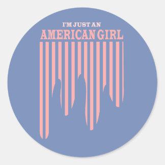 Etiqueta americana da bandeira dos Estados Unidos