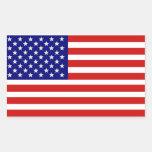 Etiqueta americana da bandeira dos EUA Adesivos Em Formato Retangulares
