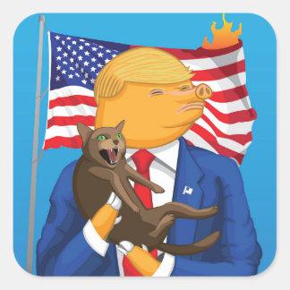 Etiqueta americana do quadrado da catástrofe