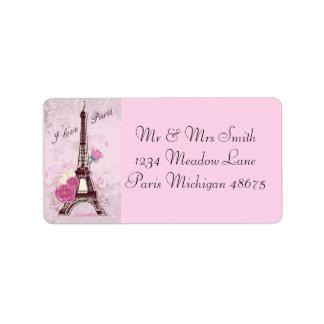 Etiqueta Amor Paris do endereço Labels/I