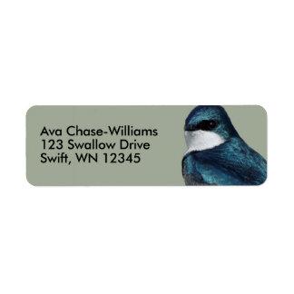 Etiqueta Andorinha de árvore considerável: Pássaro em um
