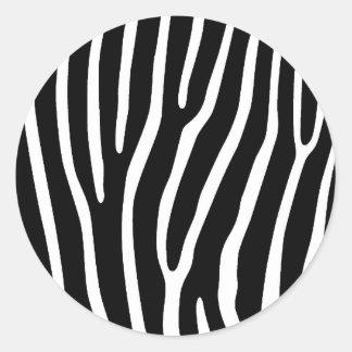 Etiqueta animal preto e branco adesivos redondos