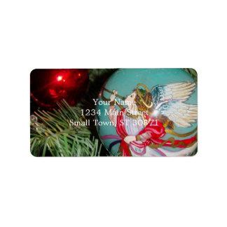 Etiqueta Anjo do Natal - arte do Natal - decorações do anjo