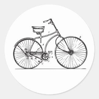 Etiqueta antiga da bicicleta