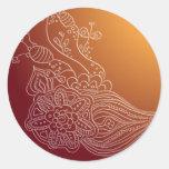 Etiqueta árabe oriental da etiqueta do estilo do adesivo redondo