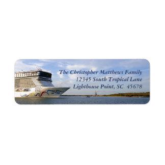 Etiqueta Arco decorado do navio de cruzeiros personalizado
