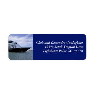 Etiqueta Arco do navio de cruzeiros de Slwwk personalizado