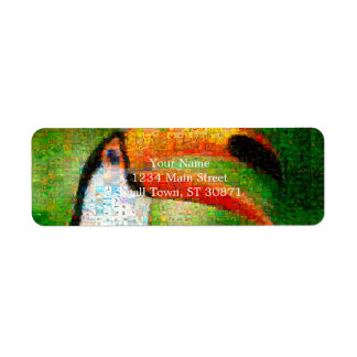 Etiqueta Arte da colagem-toucan de Toucan - arte da colagem