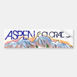 Etiqueta artística da montanha de Aspen Colorado Adesivo Para Carro