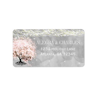 Etiqueta Árvore da folha do coração do rosa do frasco de