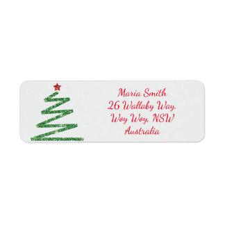 Etiqueta Árvore de Natal do brilho