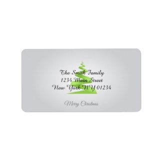Etiqueta Árvore de Natal simples da fita do Natal