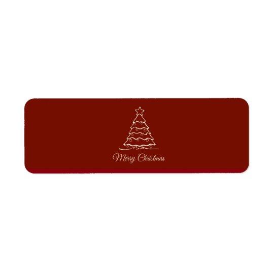 Etiqueta Árvore de Natal vermelha