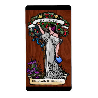 Etiqueta Árvore do Bookplate personalizado do conhecimento