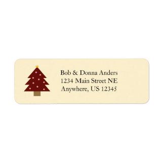 Etiqueta Árvore rústica do Natal