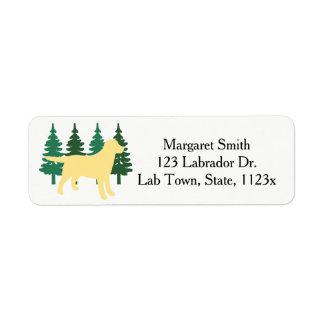 Etiqueta Árvores verdes quatro do esboço amarelo de