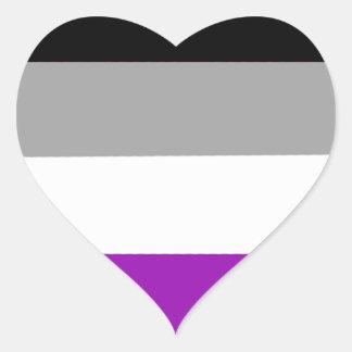 Etiqueta assexuada do coração do orgulho de LGBTQA