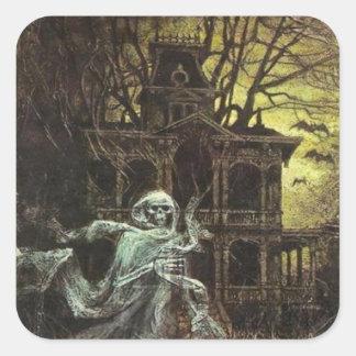 Etiqueta assombrada assustador do Dia das Bruxas