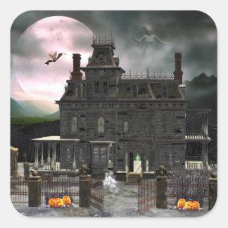 Etiqueta assombrada da casa 2 do Dia das Bruxas